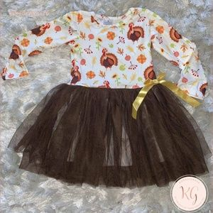 Custom Girls Boutique Thanksgiving Tutu Dress